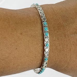 Lucky Brand Faux Turquoise Bangle